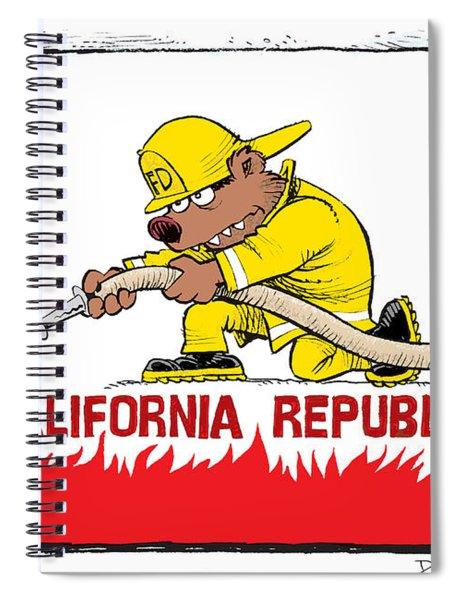 California Firefighter Flag Spiral Notebook