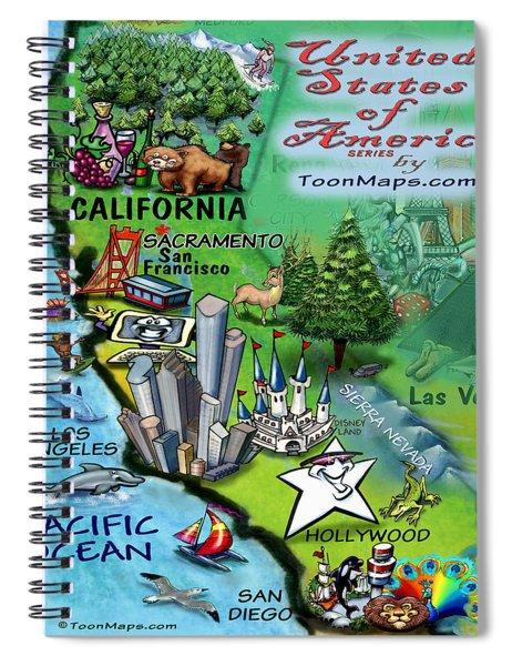 California Fun Map Spiral Notebook