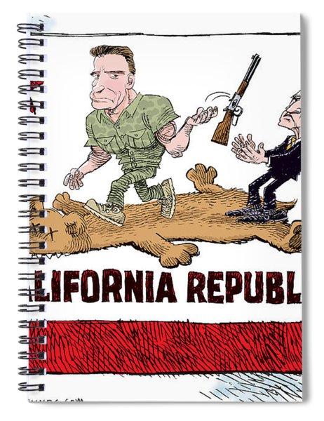 California Governor Handoff Spiral Notebook
