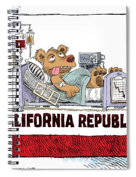 California Is Sick Spiral Notebook