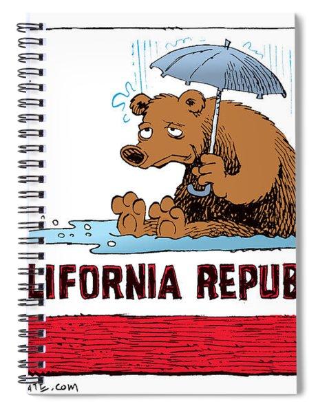California Rain Spiral Notebook