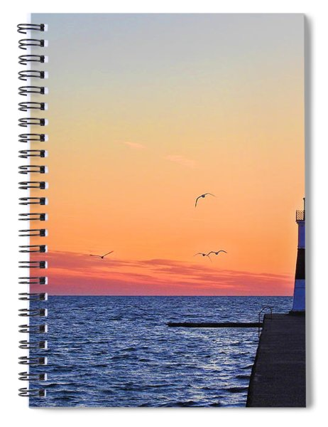 Call Of The Gull Spiral Notebook