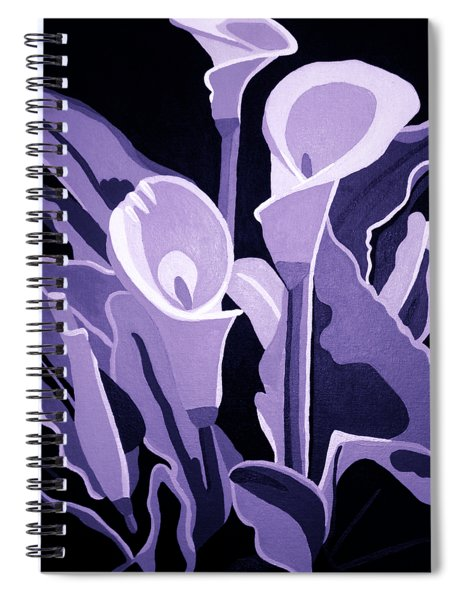 Calla Lillies Lavender Spiral Notebook
