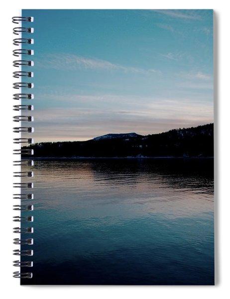 Calm Blue Lake Spiral Notebook