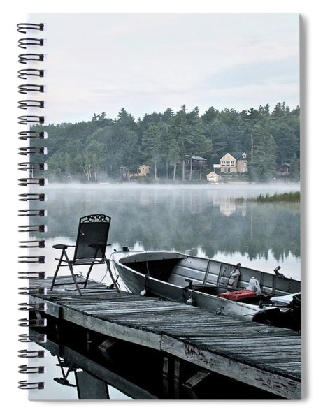 Calm Morning On Little Sebago Lake Spiral Notebook