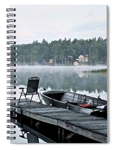 Calm Morning On Little Sebago Lake Spiral Notebook