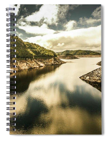 Calm Still Water Reflections Spiral Notebook