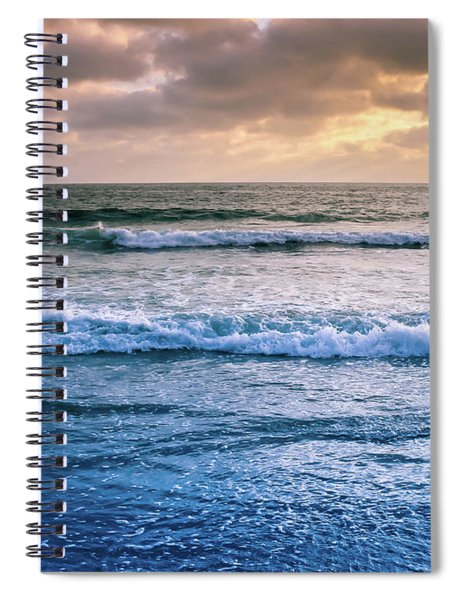 Spiral Notebook featuring the photograph Calming by Alison Frank