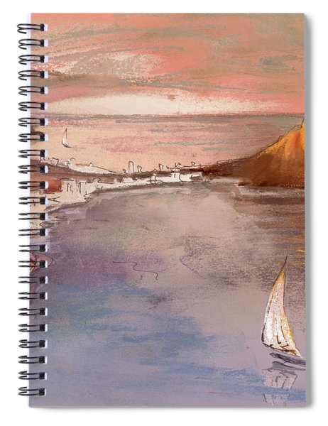 Calpe At Sunset Spiral Notebook
