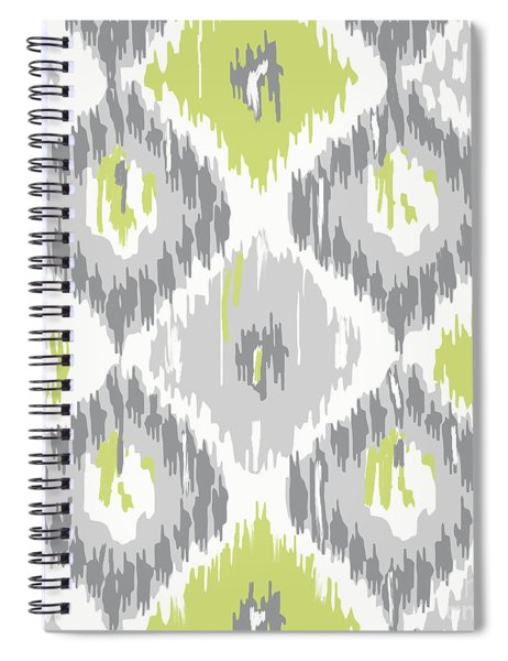 Calyx Ikat Pattern Spiral Notebook