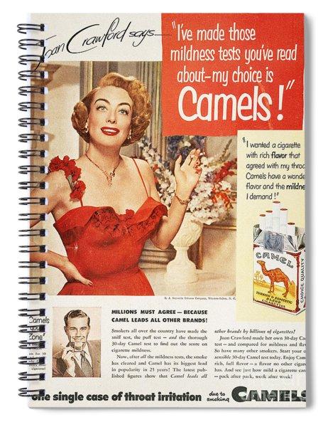 Camel Cigarette Ad, 1951 Spiral Notebook