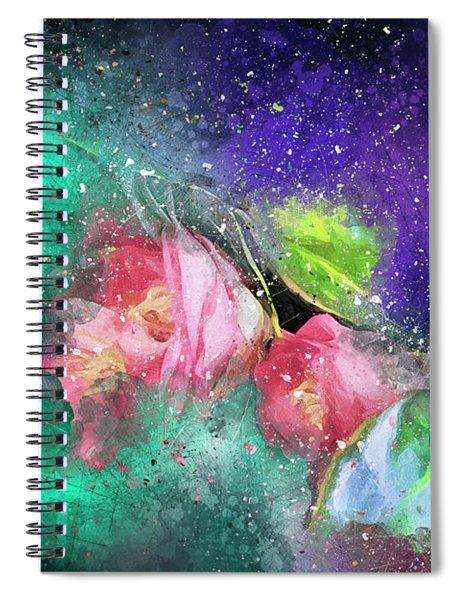 Camellias In A Galaxy Far Far Away Spiral Notebook