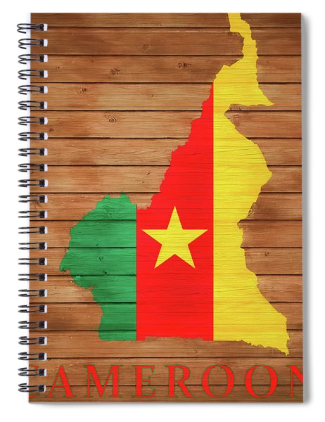 Cameroon Rustic Map On Woo Spiral Notebook