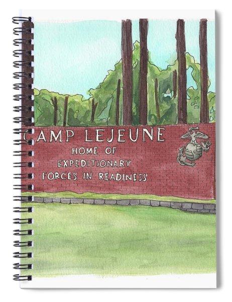 Camp Lejeune Welcome Spiral Notebook