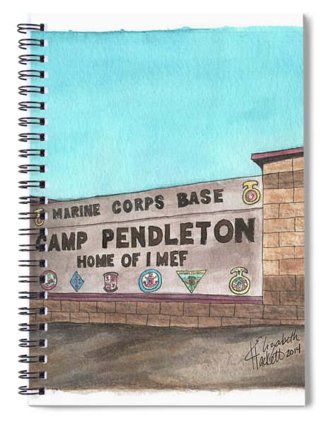 Camp Pendleton Welcome Spiral Notebook