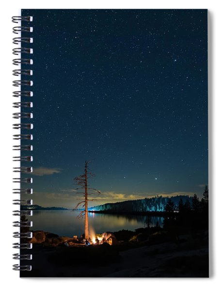 Spiral Notebook featuring the photograph Campfire 1 by Jim Thompson
