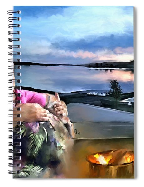 Camping With Grandpa Spiral Notebook