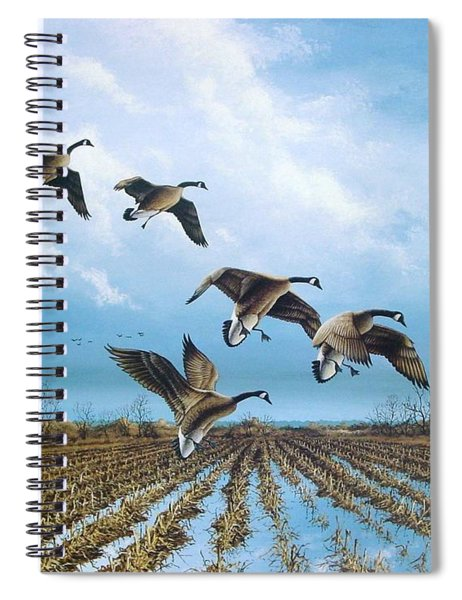 Canadian Cold Front Spiral Notebook