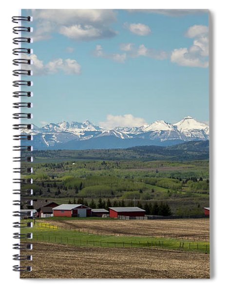 Canadian Rockies In The Distance Spiral Notebook