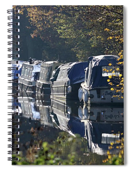 Canal Boats Wey Canal Surrey Spiral Notebook