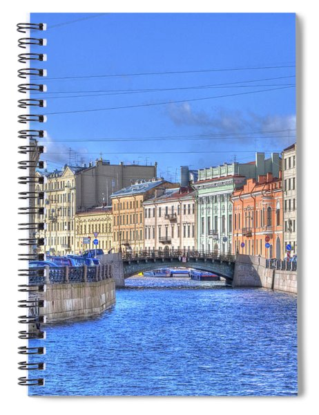 Canal In St. Petersburgh Russia Spiral Notebook