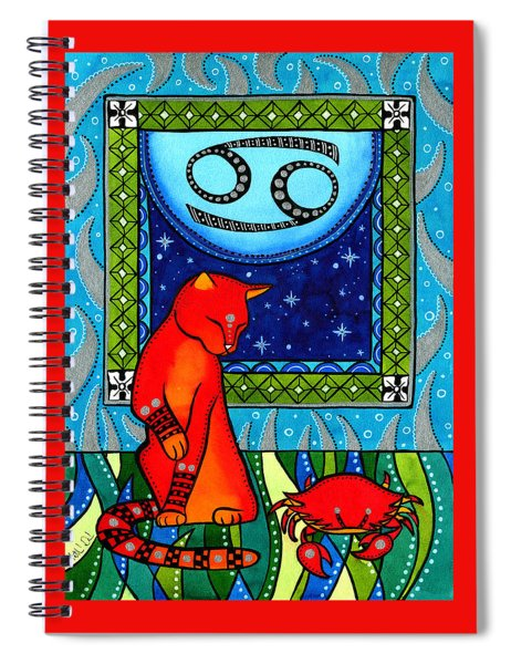 Cancer Cat Zodiac Spiral Notebook