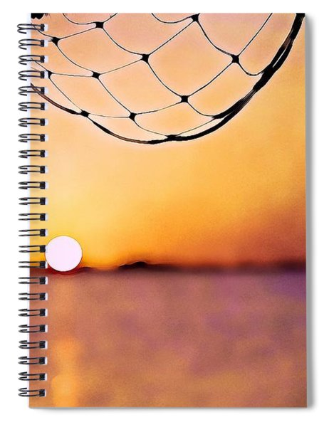 Cancun Sunset On The Lake Spiral Notebook