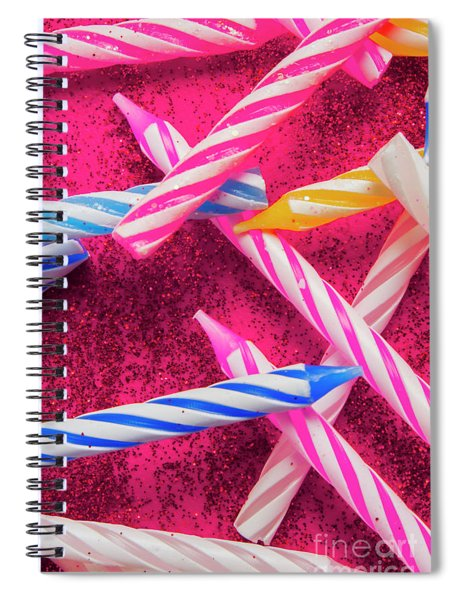 Candle Party Spiral Notebook