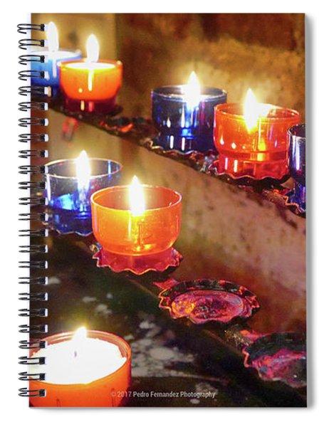 Candles Spiral Notebook