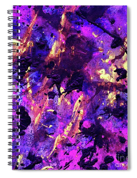 Candy Colours Abstract Spiral Notebook