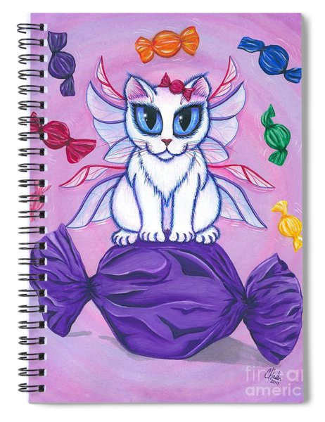 Candy Fairy Cat, Hard Candy Spiral Notebook