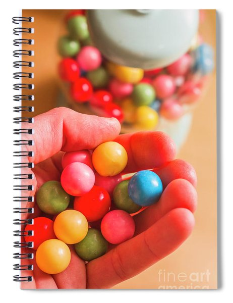 Candy Hand At Lolly Store Spiral Notebook