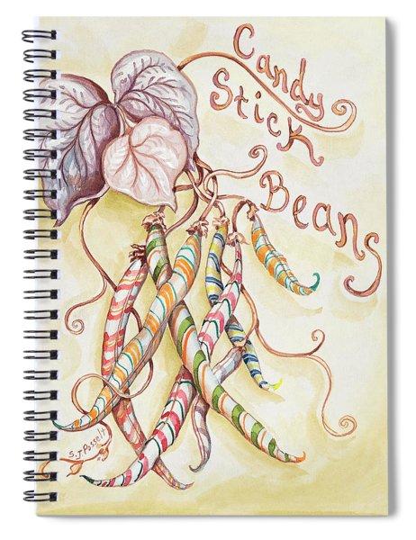Candy Stick Beans Spiral Notebook