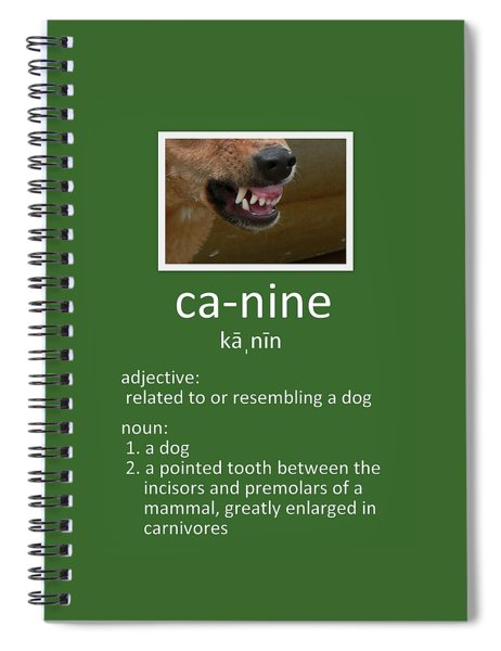 Canine Poster Spiral Notebook