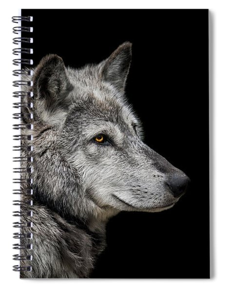 Canis Lupus Spiral Notebook