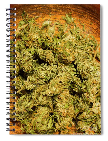 Cannabis Bowl Spiral Notebook