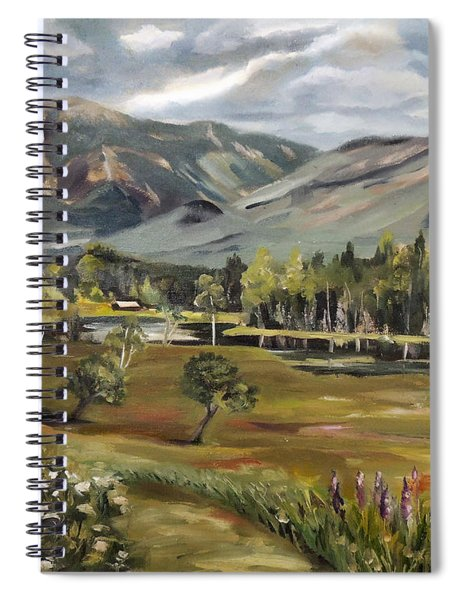 Cannon Mountain From Sugar Hill New Hampshire Spiral Notebook