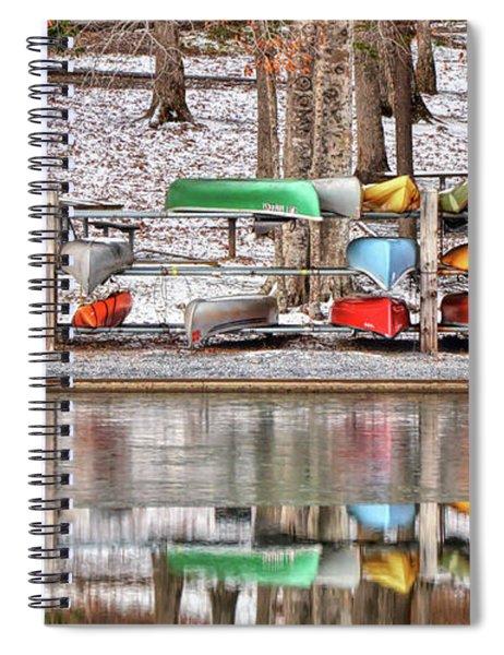 Canoe Reflections Spiral Notebook