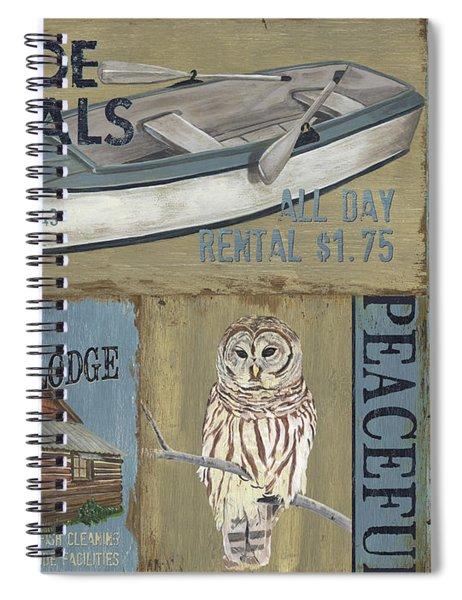 Canoe Rentals Lodge Spiral Notebook