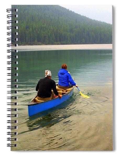 Canoeing Glacier Park Spiral Notebook