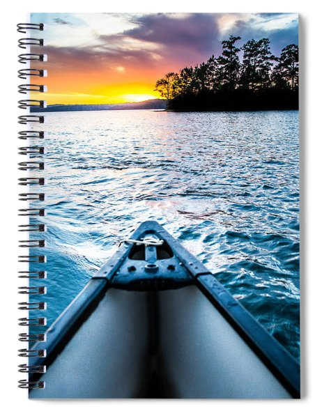 Canoeing In Paradise Spiral Notebook