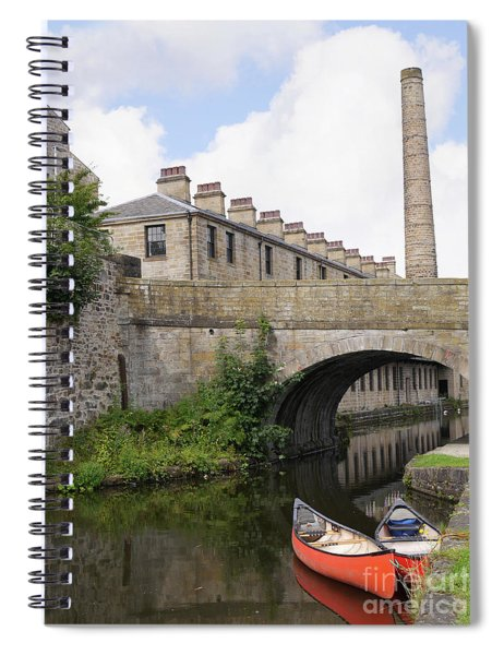Canoes On Quiet Canal  Spiral Notebook