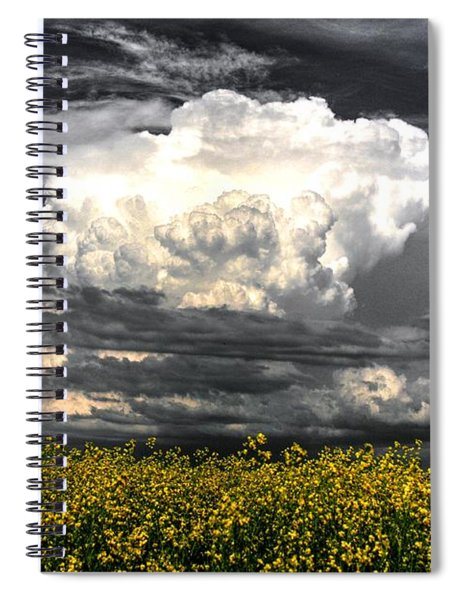 Canola Clouds Spiral Notebook