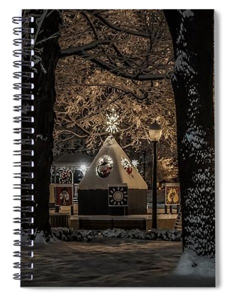 Canopy Of Christmas Lights Spiral Notebook