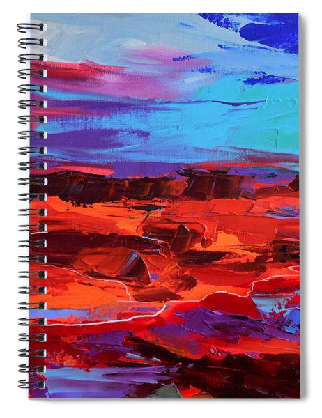 Canyon At Dusk - Art By Elise Palmigiani Spiral Notebook
