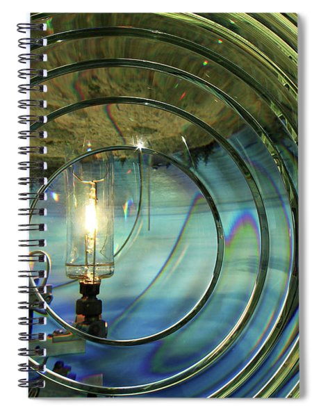 Cape Blanco Lighthouse Lens Spiral Notebook