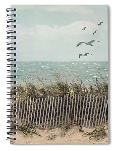 Cape Cod Beach Scene Spiral Notebook