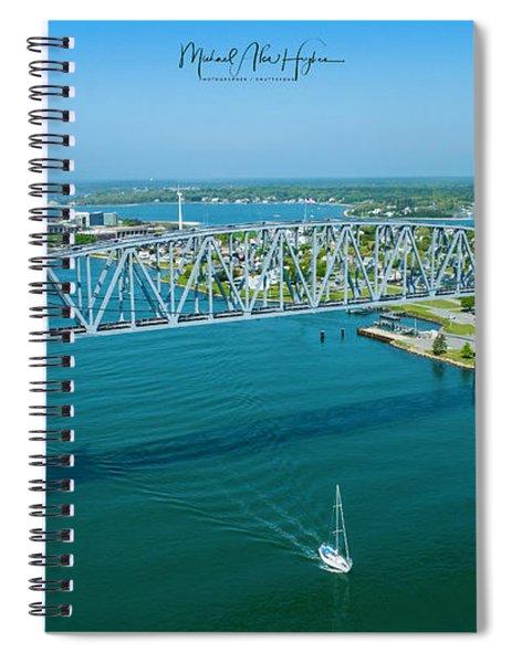 Cape Cod Canal Suspension Bridge Spiral Notebook