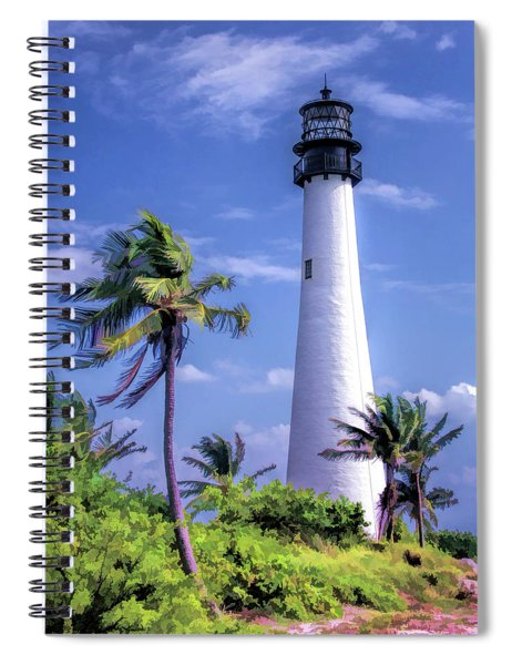Cape Florida Lighthouse Spiral Notebook by Christopher Arndt