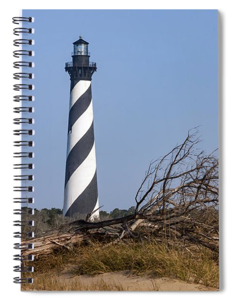 Cape Hatteras Lighthouse With Driftwood Spiral Notebook